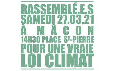 Marche pour le climat organisée samedi 27 mars